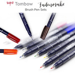 Tombow Fudenosuke Brush Pen Sets