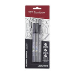 Tombow Fudenosuke Brush Pen Set Of 3 Black (Hard/Soft/Twin Tip)
