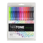 Tombow Twintone Marker Set Of 12 Bright Colors