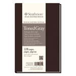 """Strathmore Hardbound Art Journal 400 Series Toned Sketch Paper (80 lb.) 5.5x8.5"""" - 128 Pages - Gray"""