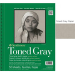 """Strathmore Recycled Toned Pad 400 Series 9x12"""" - 50 sheets - Gray"""