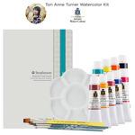 Tori Anne Set of 9 Turner Watercolors, Strathmore & Mimik Brushes Set