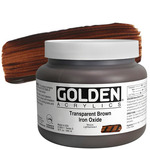GOLDEN Heavy Body Acrylic 32 oz Jar - Transparent Brown Iron Oxide