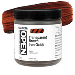Golden Open Acrylic 8 oz Jar - Transparent Brown Iron Oxide