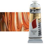 Matisse Structure Acrylic Colors Transparent Red Oxide 75 ml