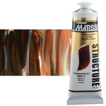 Matisse Structure Acrylic 75 ml Tube - Transparent Umber