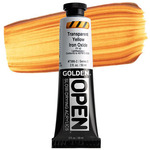 GOLDEN Open Acrylic Paints Transparent Yellow Iron Oxide 2 oz