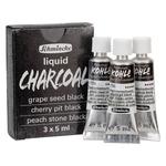 Schmincke Liquid Charcoal 5 ml Trio Set of 3