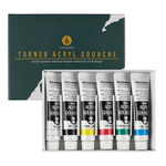 Turner Colour Acryl Gouache 11ml Basic Set of 6 Colors