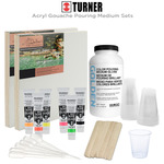 Turner Acryl Gouache & GOLDEN Medium Pouring Sets