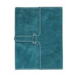 "Opus Genuine Leather Journal Slide Enclosure 6"" x 8"" Turquoise"