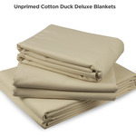 Unprimed Cotton Duck Deluxe Canvas Blankets