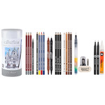 Cretacolor Urban Sketching Cylinder Tin Can Set of 24