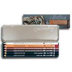 Cretacolor Oil Pencil Tin Box Set of 6 - Assorted Colors