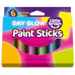 Little Brian Paint Stick Set of 6 Day Glow