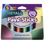 Little Brian Paint Stick Set of 6 Metallic