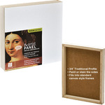 "Ampersand Value Series Artist Panel 3-Pack Canvas Finish - 3/4"" Cradle 8x10"""