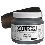 GOLDEN Heavy Body Artists' Acrylics Van Dyke Brown 32 oz
