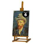 Van Gogh Table & Display Easel Walnut Finish (Box of 6)