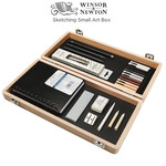 Winsor & Newton Sketching Small Art Box Set - Wooden Box