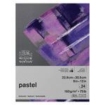Winsor & Newton Pastel Paper 75 lb 9x12 Pad Grey Colors 24-Sheets