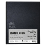 Winsor & Newton Sketchbook 50 lb Hardbound 8.5x11 Pad 80-Sheets