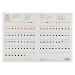 Winsor & Newton Professional Watercolor 109 Color Dot Card