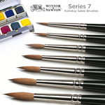 Winsor & Newton Series 7 Kolinsky Sable Watercolor Standard Round Brushes