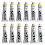 Golden Heavy Body Acrylic 2 oz Yellows Set Of 12