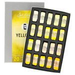 Richeson Hand-Rolled Soft Pastels Set of 20 Yellows