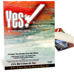 "Yes! All Media Cotton Canvas Pad 12x16"" 10 Sheets"