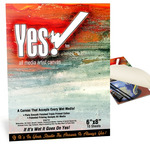 "Yes! All Media Cotton Canvas Pad 6x8"" 10 Sheets"