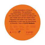YUPO Medium Multimedia Paper 74 lb 8 in Round Pad 10 Sheets