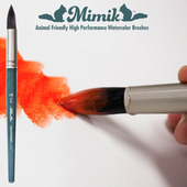 Mimik High Performance Synthetic Squirrel Hair Watercolor Brushes