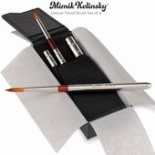 Mimik Kolinsky Sable Mini Deluxe Travel Brush Set of 4
