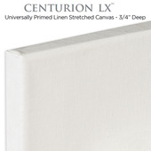 """Centurion LX Universal Acrylic Primed Linen Stretched Canvas 3/4"""""""